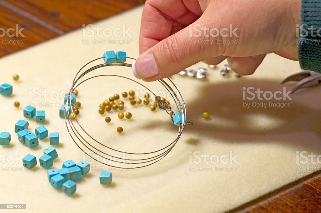 Designing Jewelry stock photo