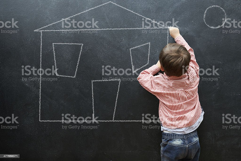Designing my future mansion stock photo