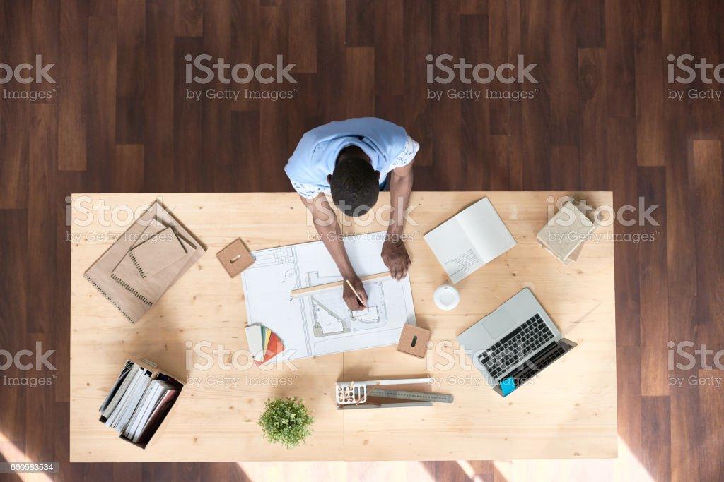 Designing sketch stock photo