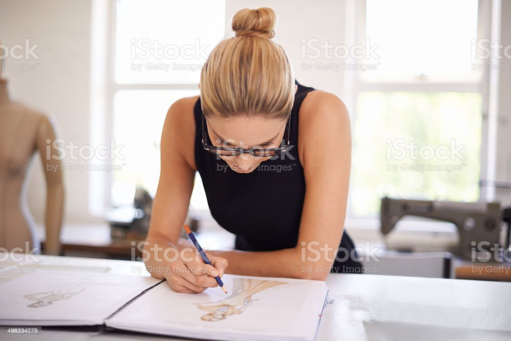 Designing the latest trends stock photo