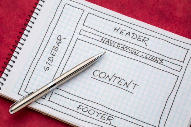 diseño diseño web - website design fotografías e imágenes de stock