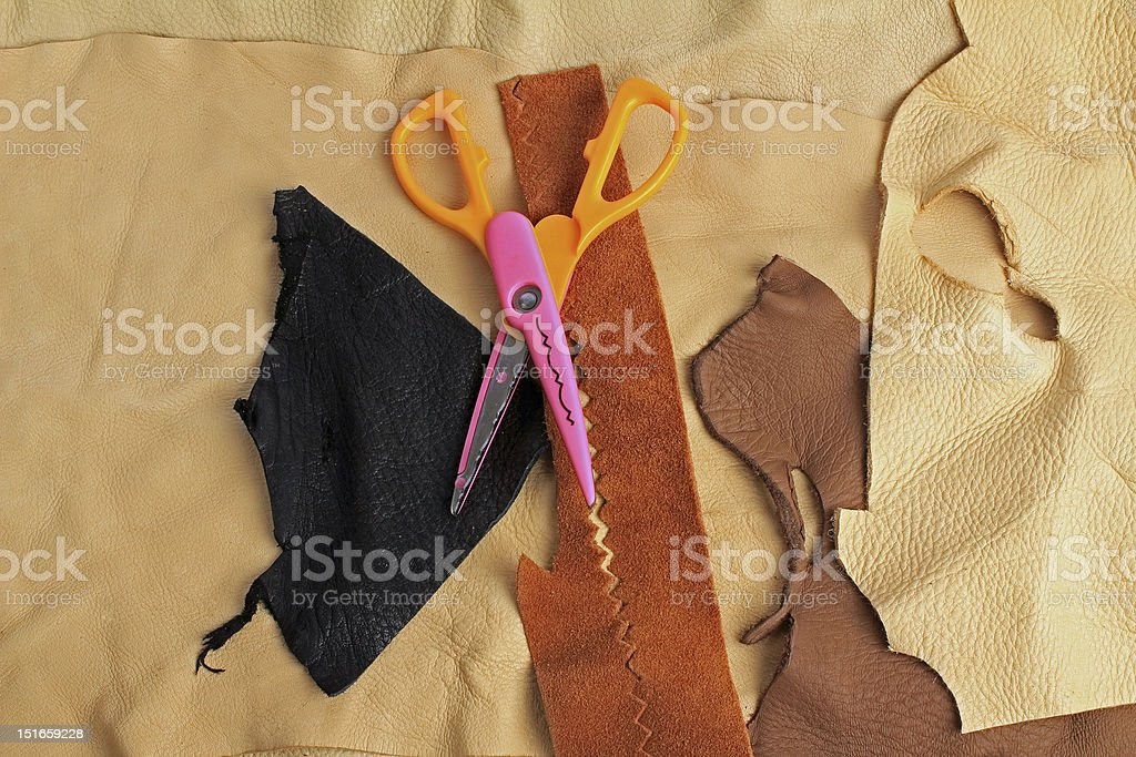 Designing with Leather stock photo