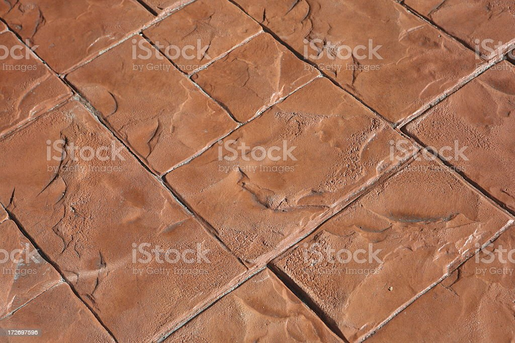 Designs in stamped concrete royalty-free stock photo