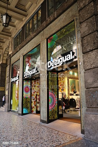 Desigual Store In Bologna Italy Stock Photo & More Pictures of Alley ...