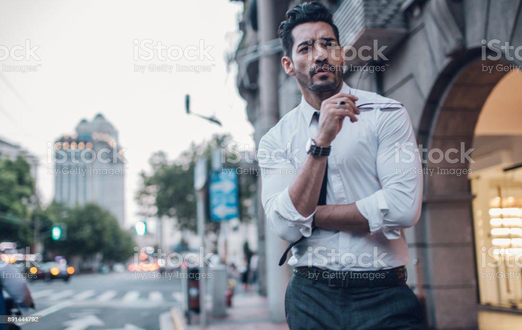 Desirable handsome man stock photo