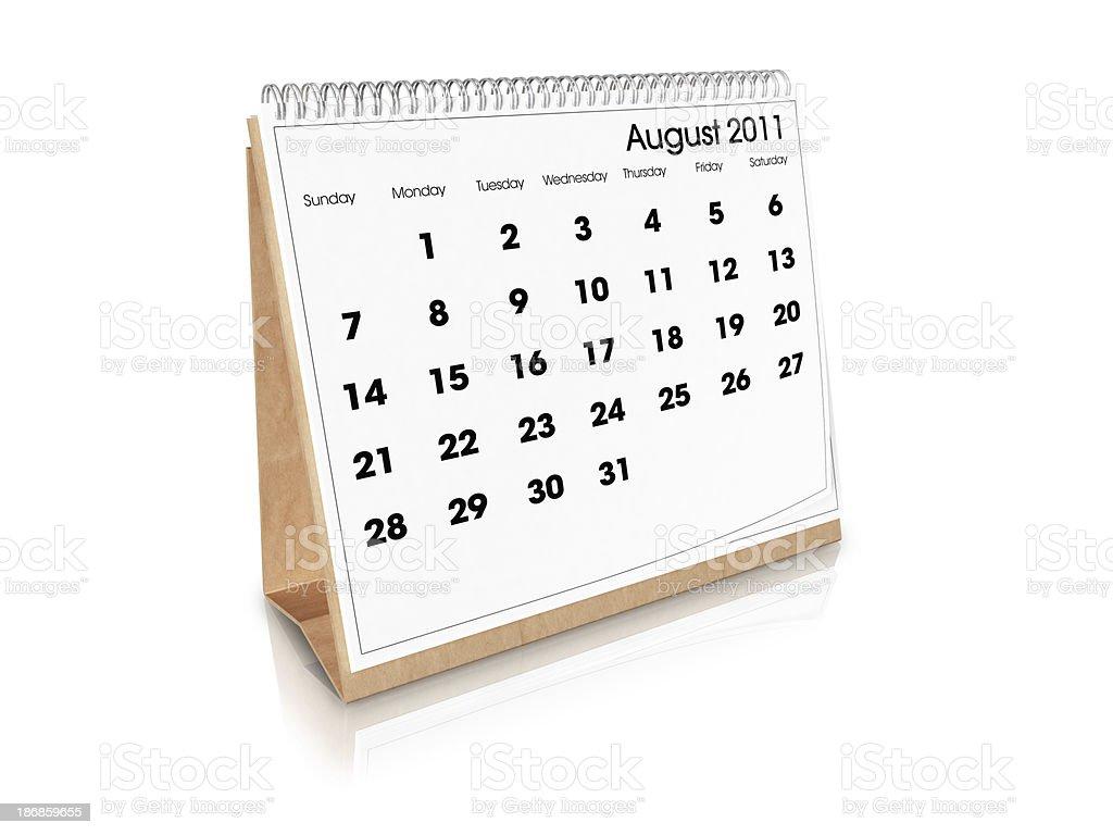 Schreibtisch Kalender August 2011 – Foto