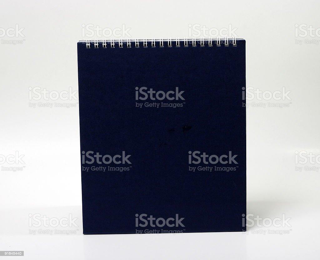 Desk Calendar back stock photo