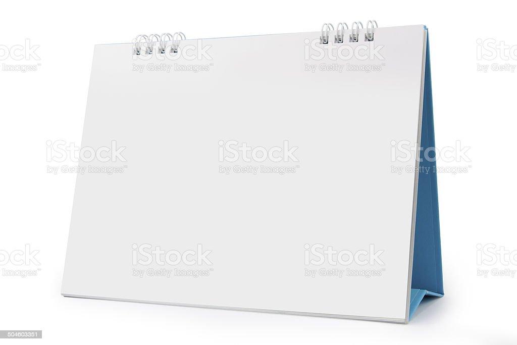 Desk Calendar isolated on white stock photo