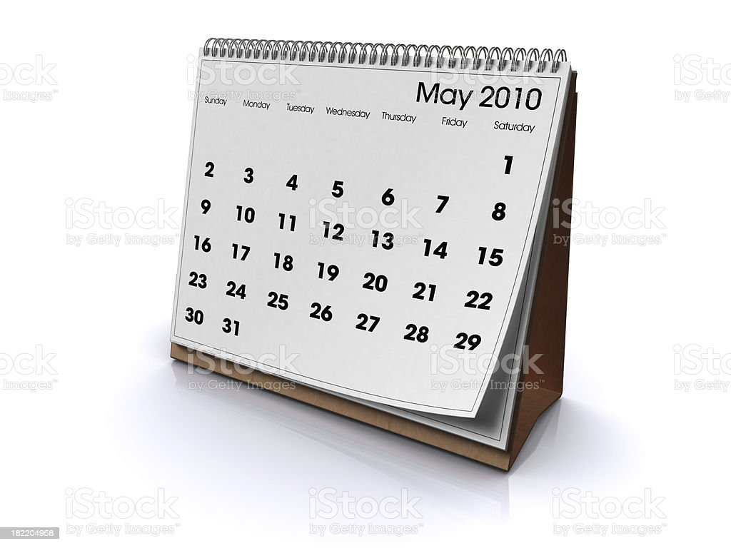 Desk Calendar May 2010 royalty-free stock photo