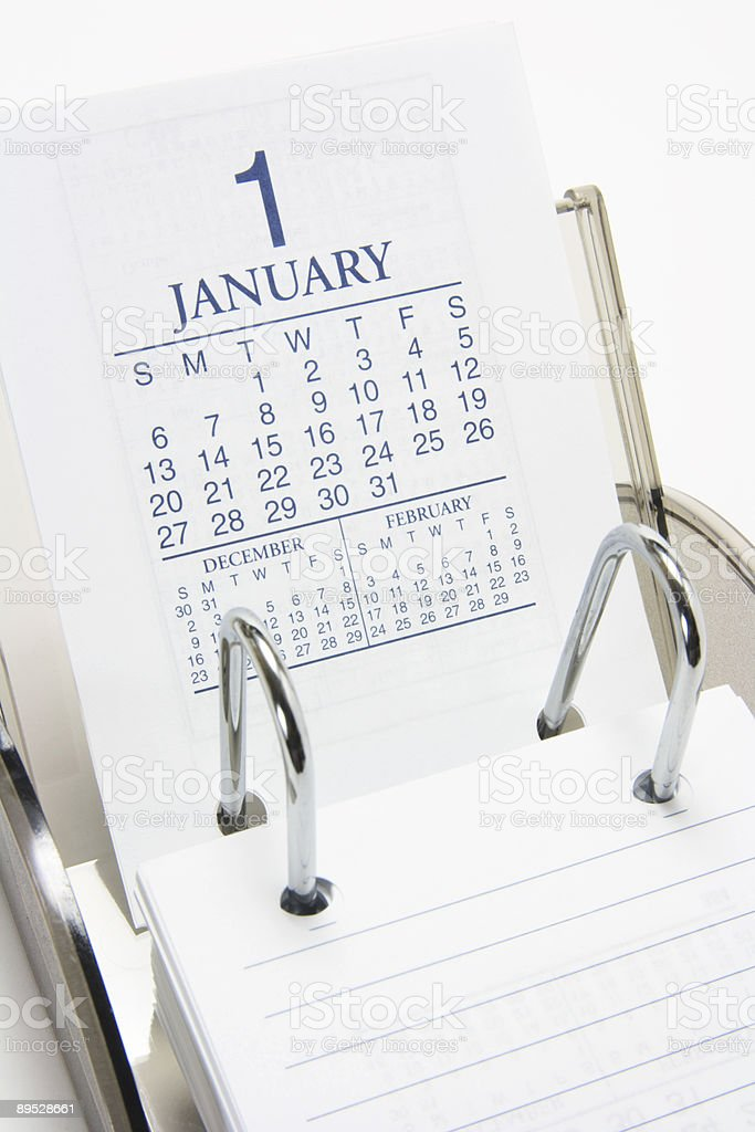 Desk Calendar royalty-free stock photo