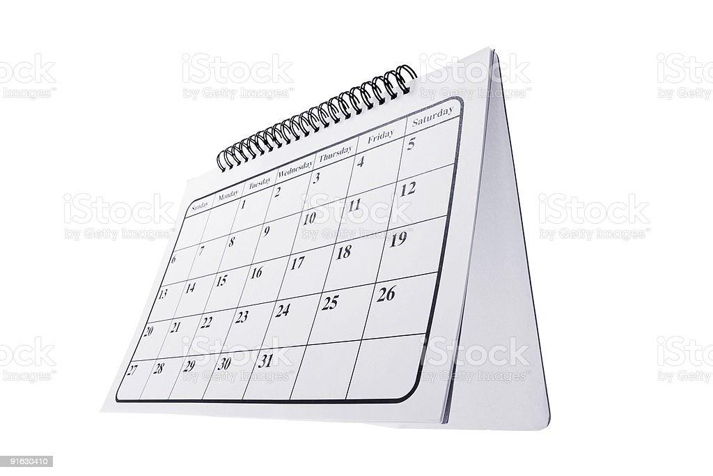 Desk Calendar royalty-free stock photo