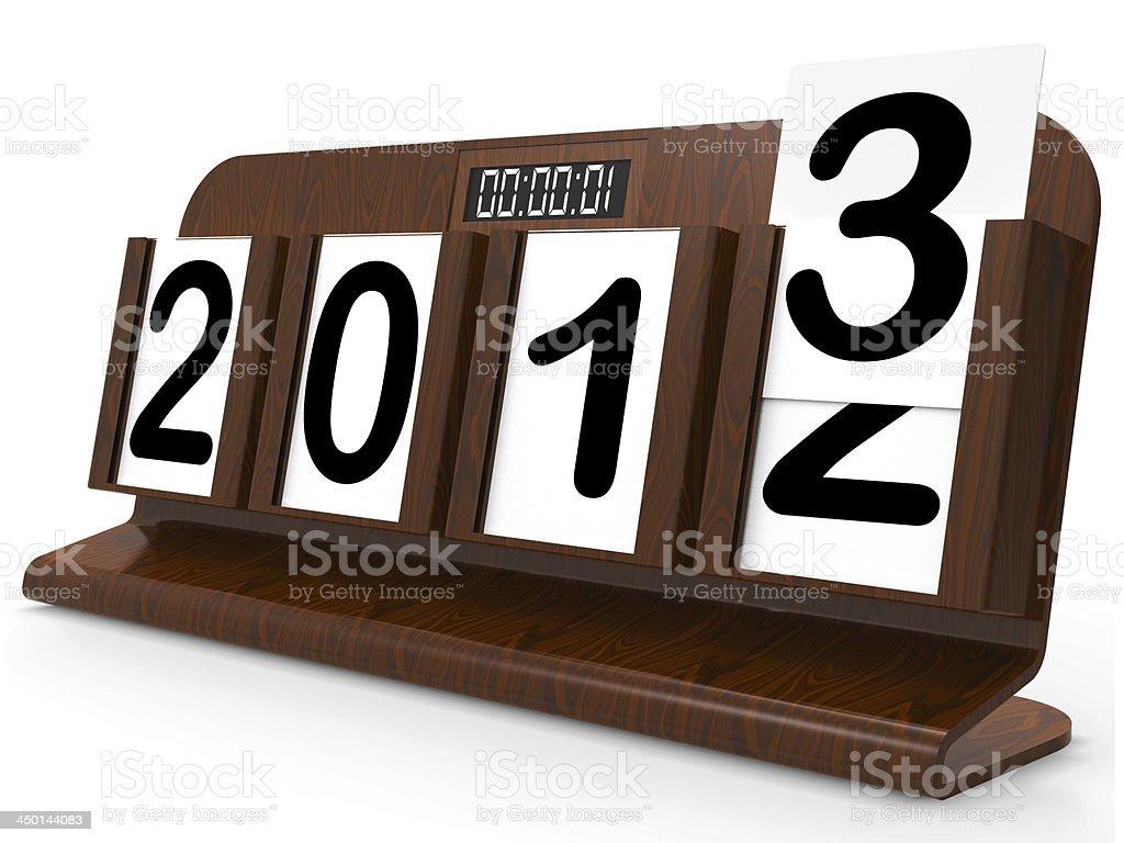 Desk Calendar Represents Year Two Thousand Thirteen stock photo