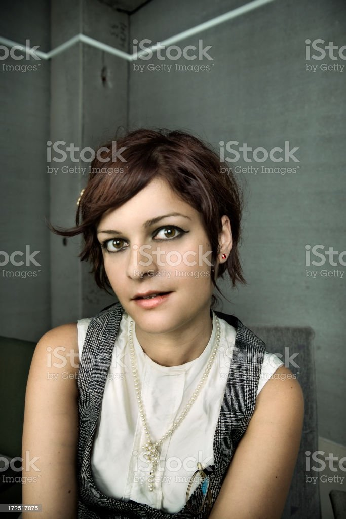 Desk girl royalty-free stock photo
