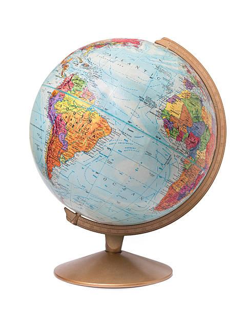 Desk globe stock photo