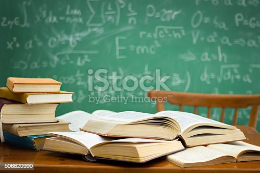 istock desk in a mess during learning 506820990