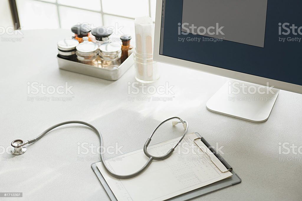 doctors office furniture. Desk In Doctors Office Stock Photo Furniture F