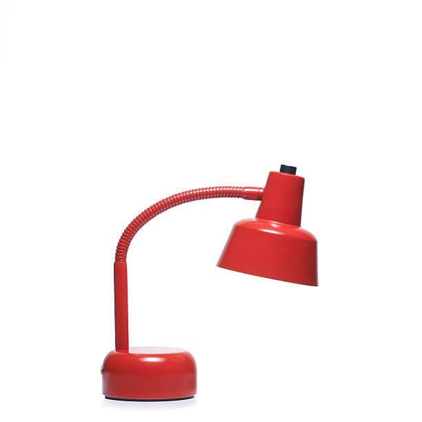 schreibtisch-lampe isoliert - bürolampe stock-fotos und bilder