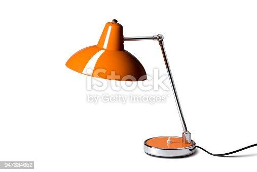 Desk lamp on white background.
