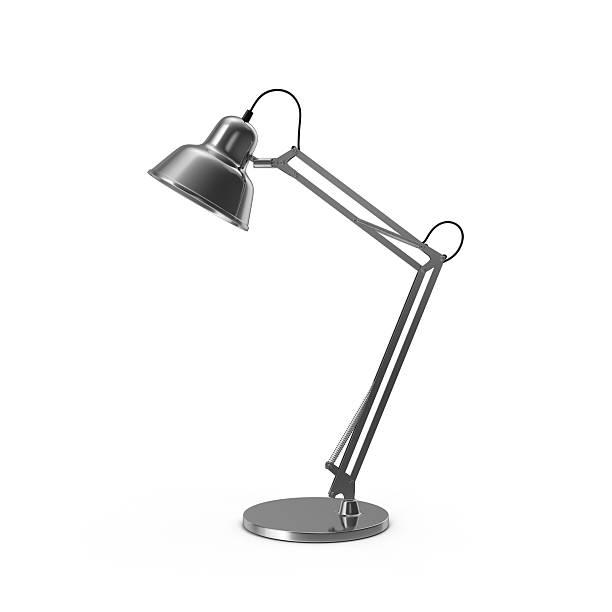 desk schreibtischlampe - bürolampe stock-fotos und bilder