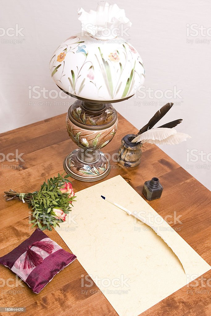 Desk of a Poet royalty-free stock photo