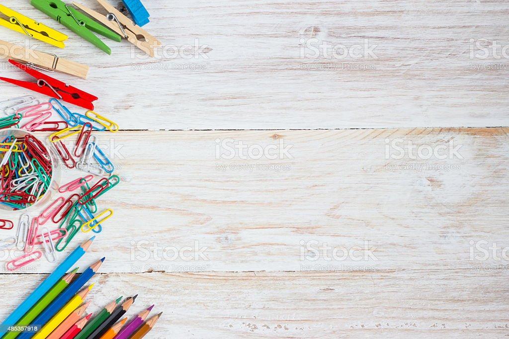 Schreibtisch eines Künstlers – Foto