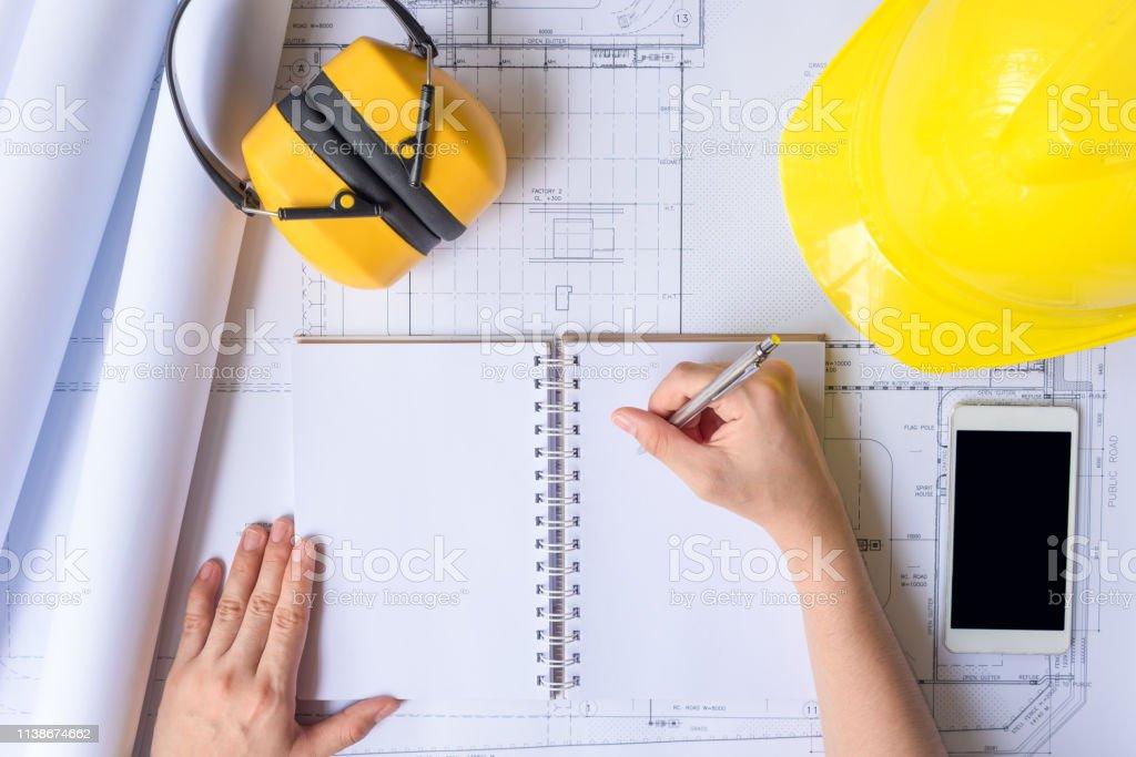 Escritorio de Ingeniero - foto de stock