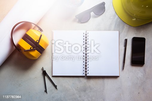 623909418 istock photo Desk office engineer 1137782364