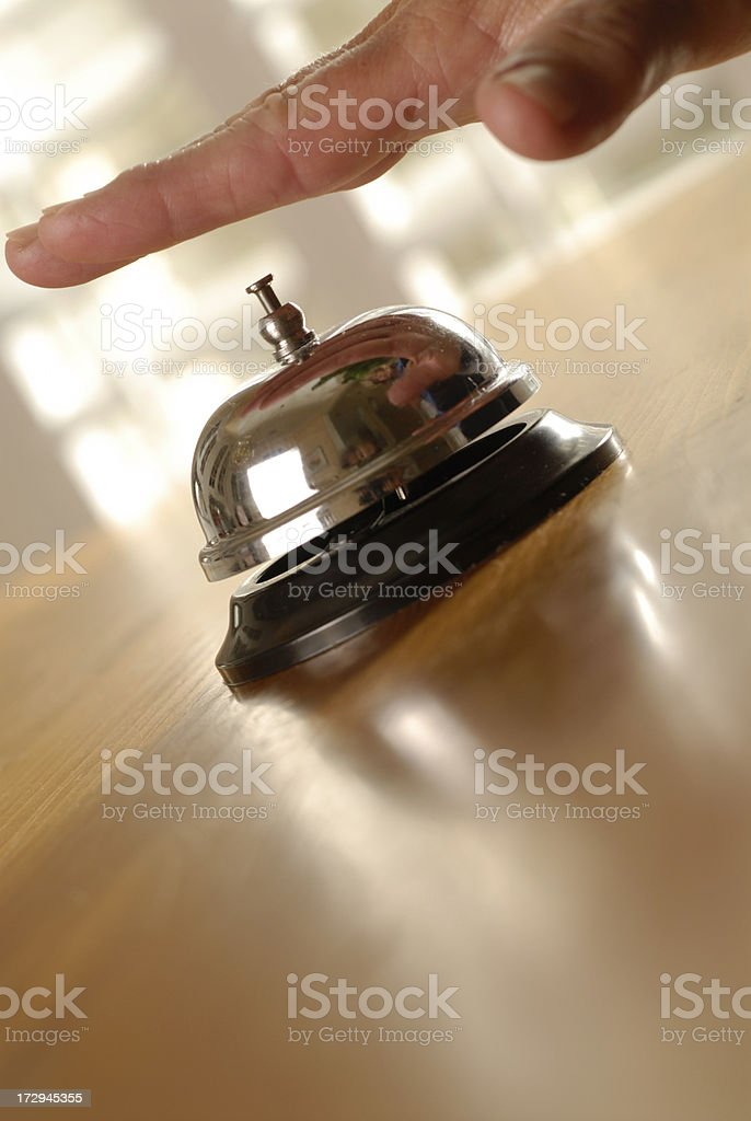 desk service bell royalty-free stock photo
