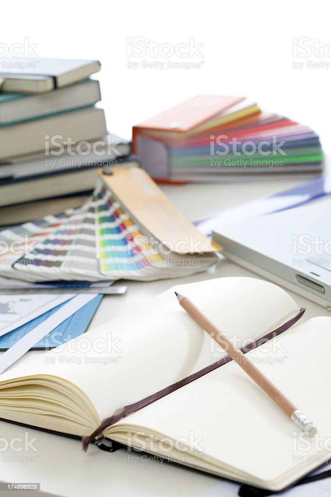 Desks Series.Close-ups - Graphic Designer royalty-free stock photo