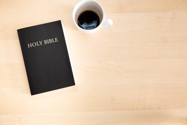 Desktop Bible stock photo