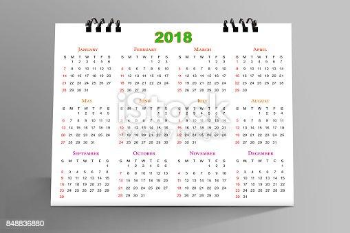 968874704istockphoto Desktop Calendar Design 2018 with mockup 848836880