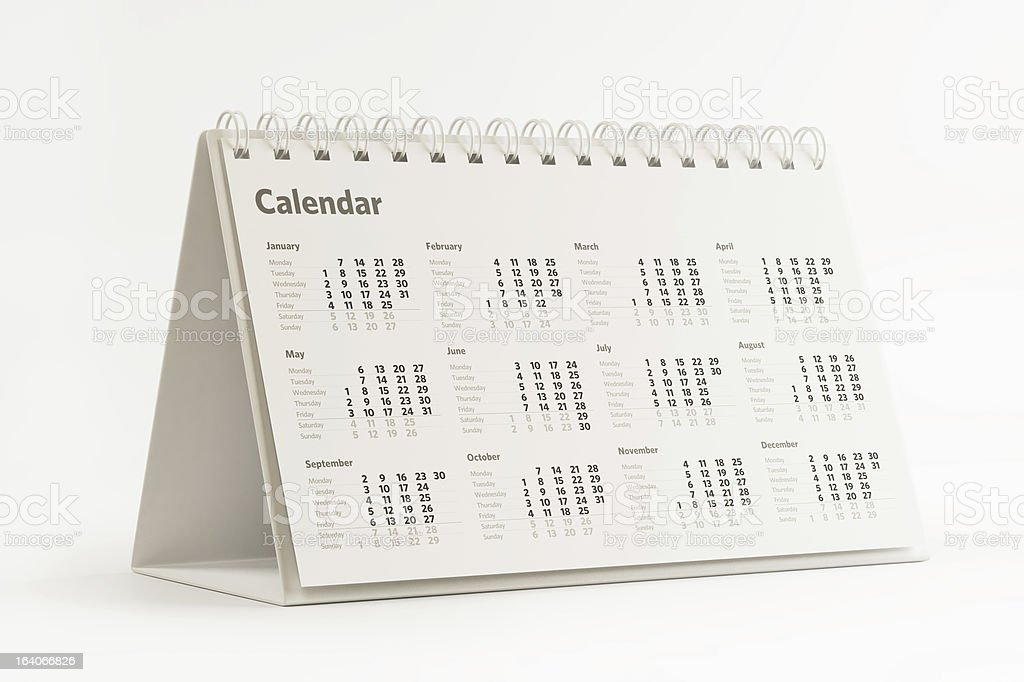 Desktop Calendar royalty-free stock photo