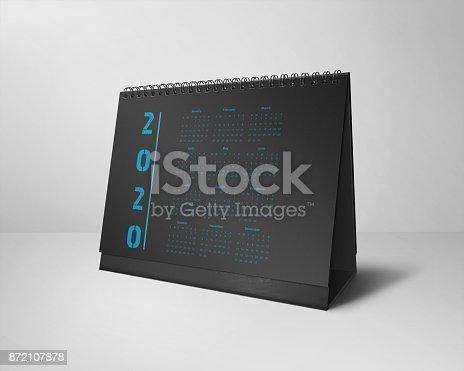 istock Desktop Calendars Design 2020 All-Months Black & Blue 872107878
