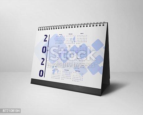 istock Desktop Calendars Design 2020 All-Months 872108194