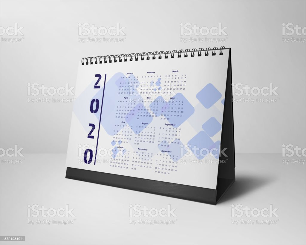 Desktop Calendars Design 2020 All-Months stock photo