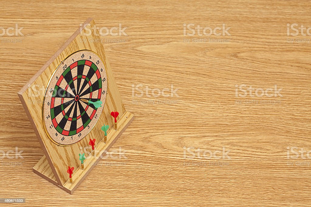 Desktop Dartboard royalty-free stock photo