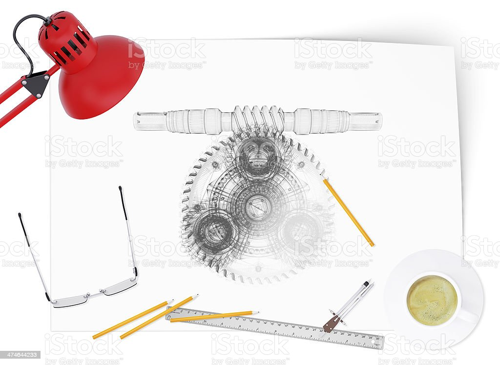 Desktop engineer stock photo