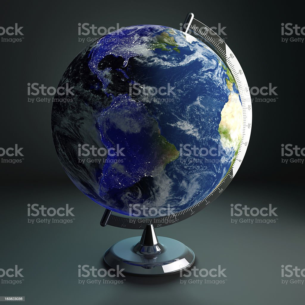 Desktop globe night and day stock photo more pictures of desktop globe night and day royalty free stock photo gumiabroncs Gallery
