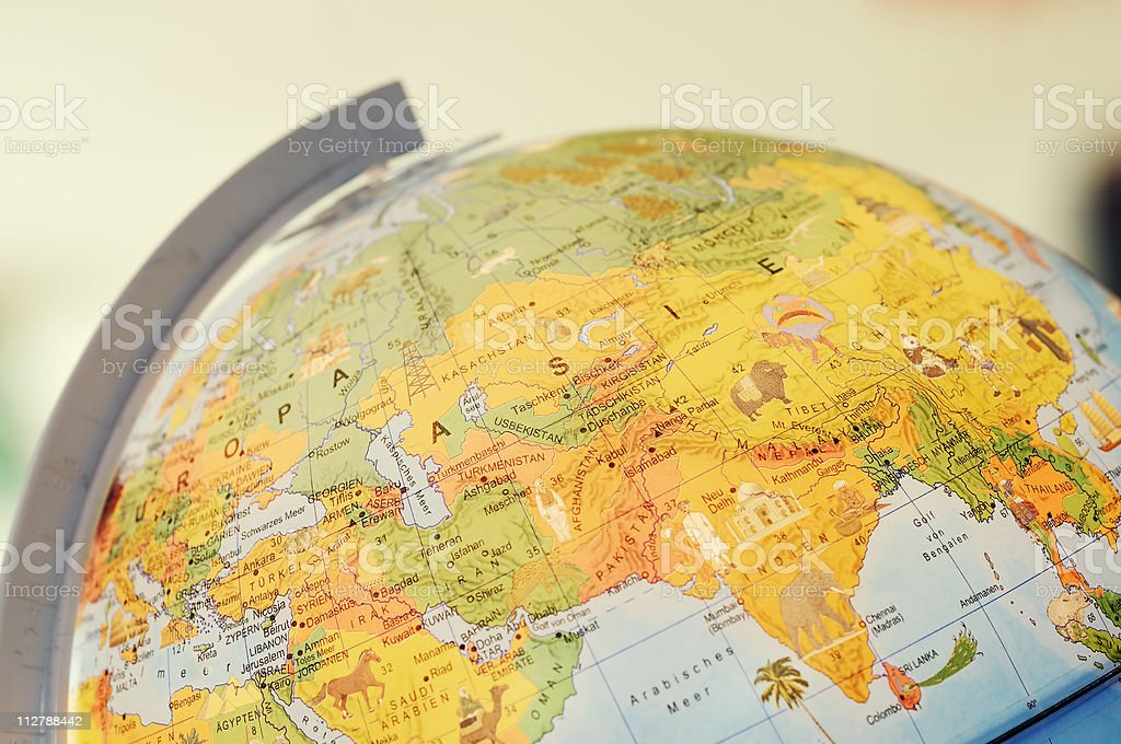 A desktop globe, that is ready to view for all students stock photo