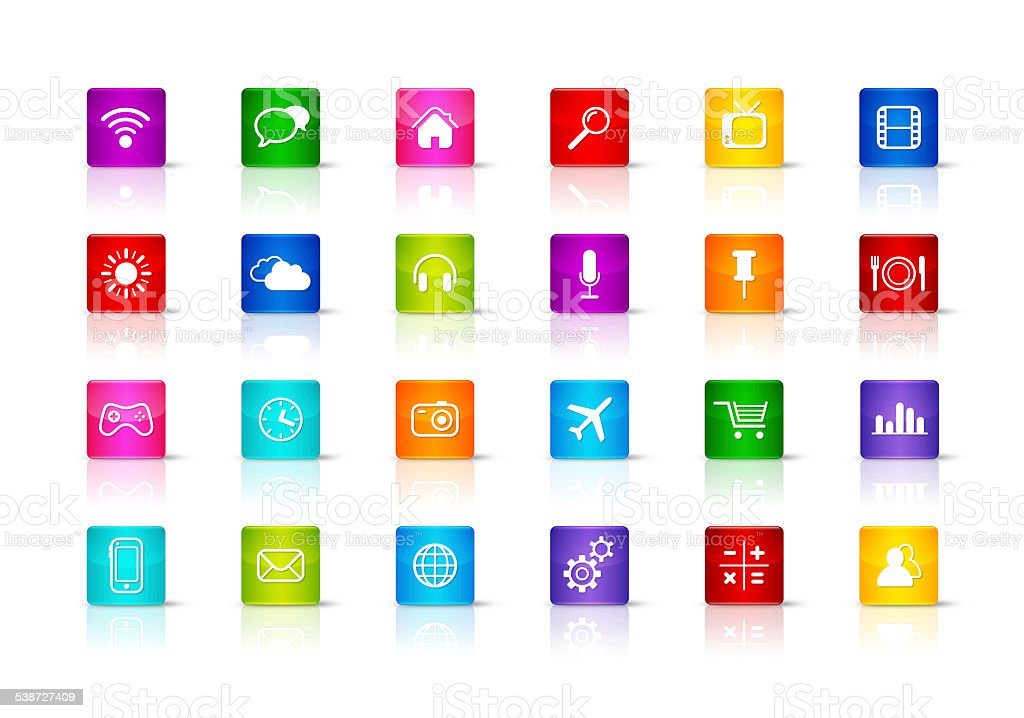 Desktop Icons collection stock photo