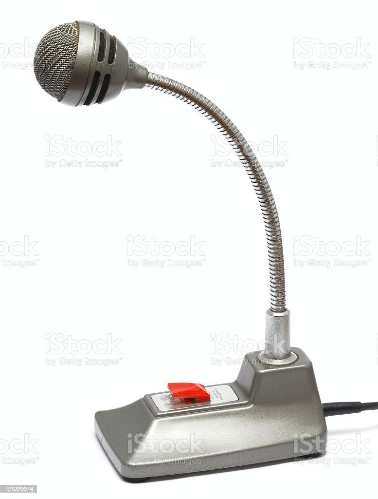 Desktop microphone stock photo