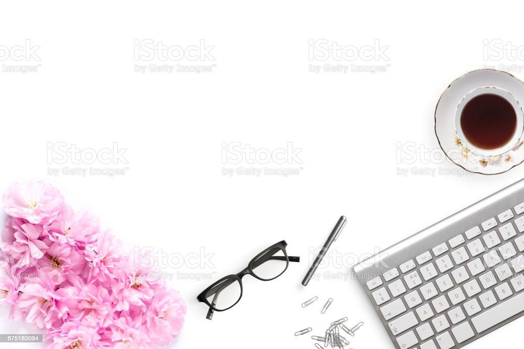 Desktop mockup stock photo