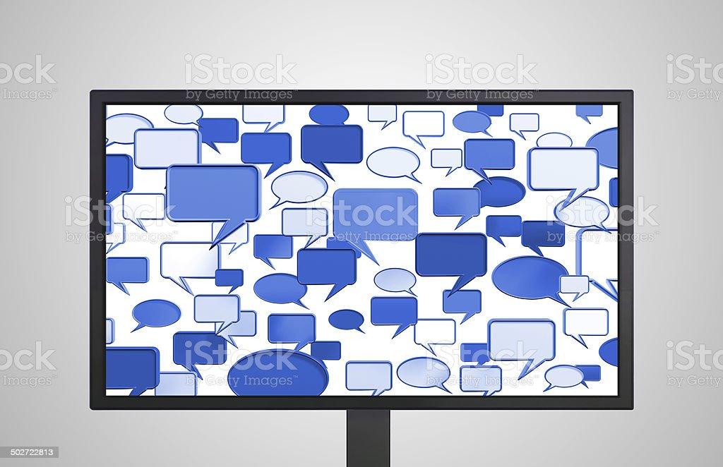 desktop Monitor display conversation blue royalty-free stock photo