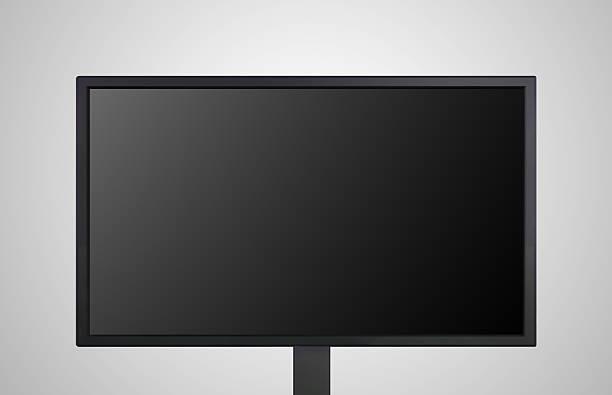computer-monitor zeigt die black bildschirm - 4k led tv stock-fotos und bilder