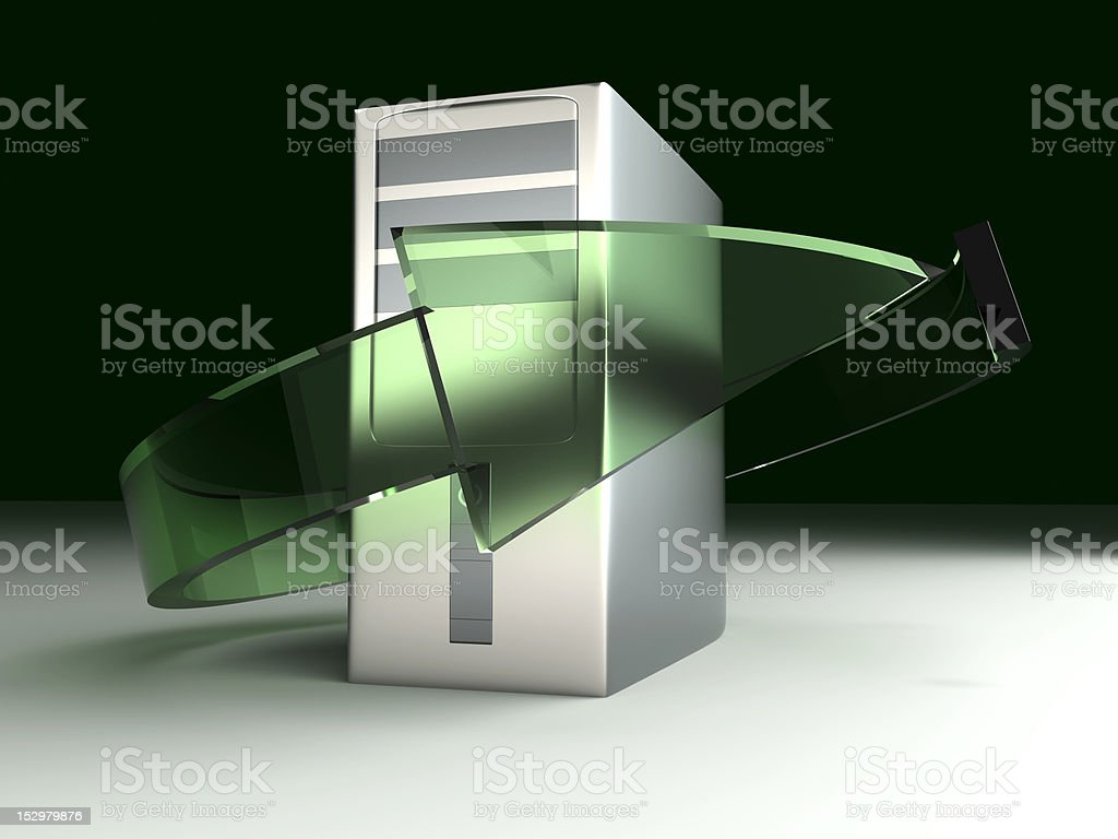 Desktop PC Recylcling royalty-free stock photo