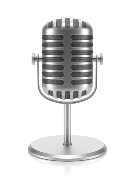 Desktop-Retro-Mikrofon – Foto