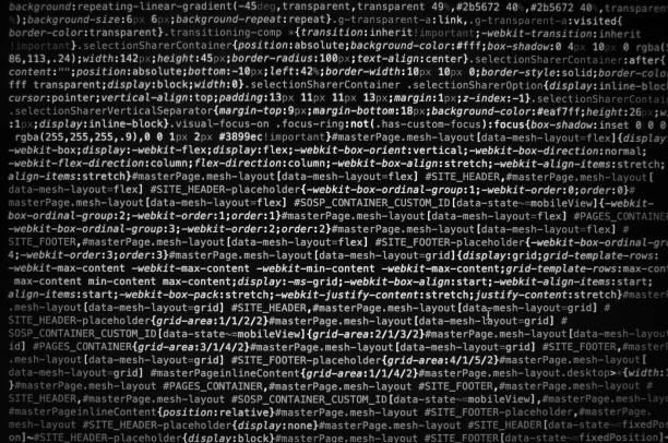 desktop-quellcode und wallpaper von computersprache mit codierung und programmierung. - html stock-fotos und bilder