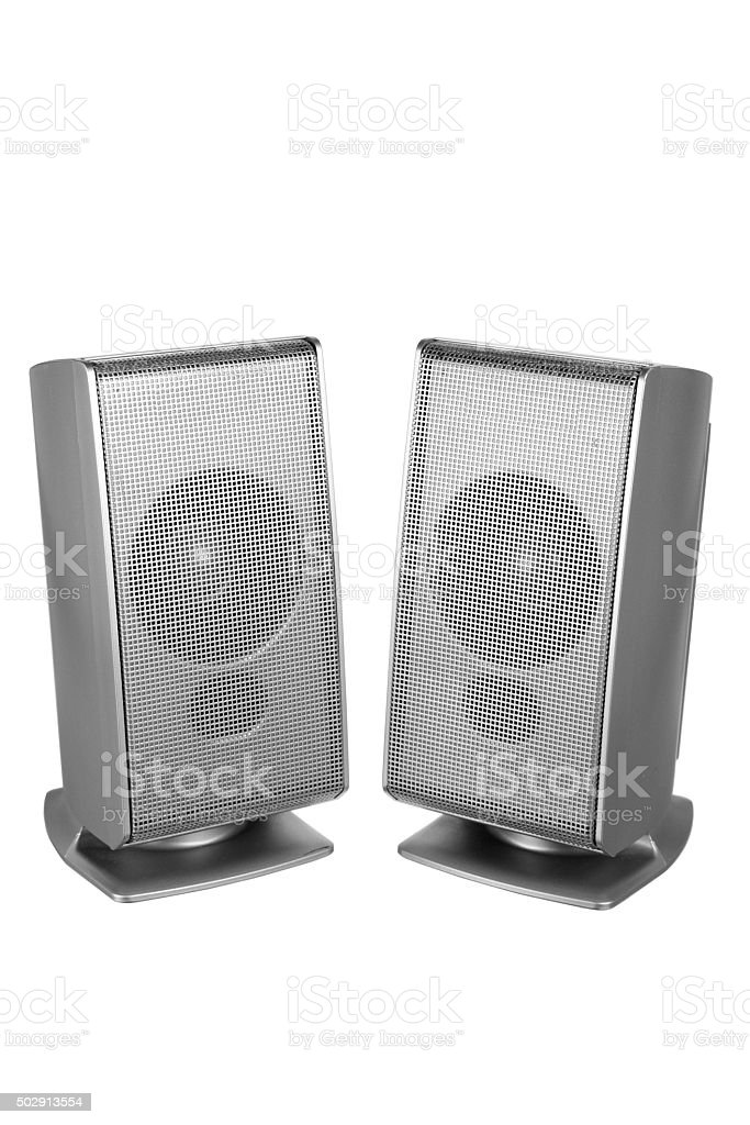 Desktop Speakers stock photo