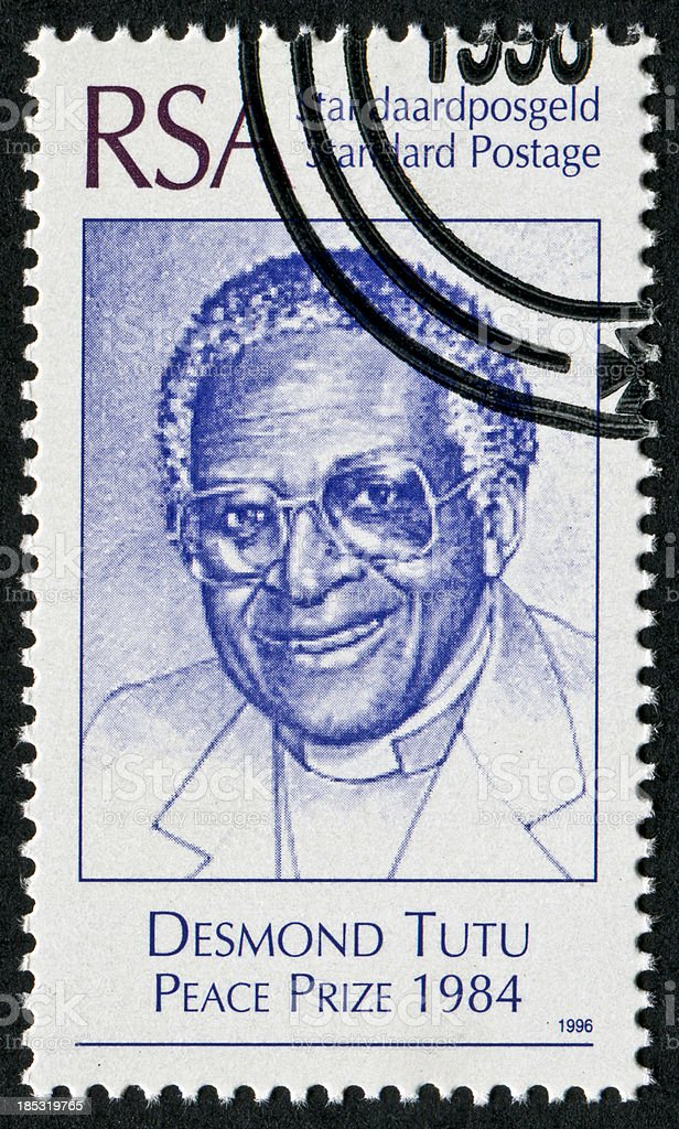 Desmond Tutu Stamp royalty-free stock photo