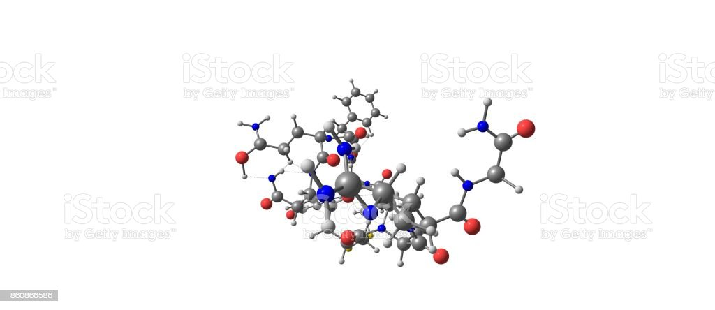 Desmopressin molecular structure isolated on white stock photo